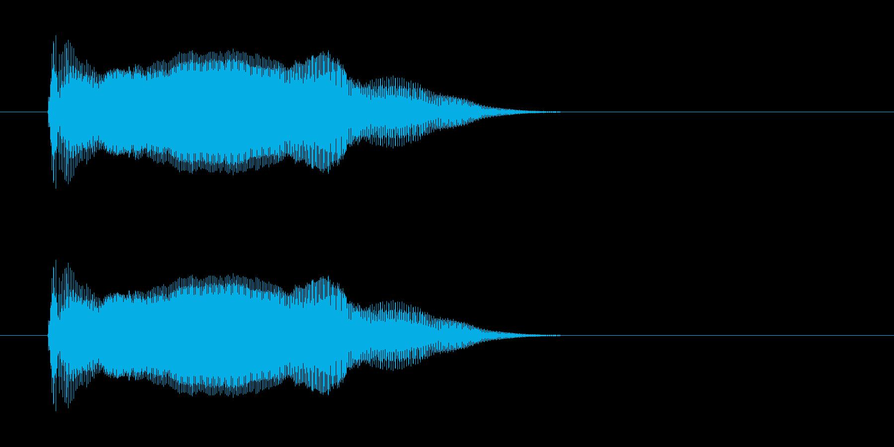 ポン! の再生済みの波形