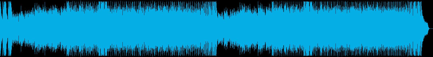 エスニック・ガムラン風の曲の再生済みの波形