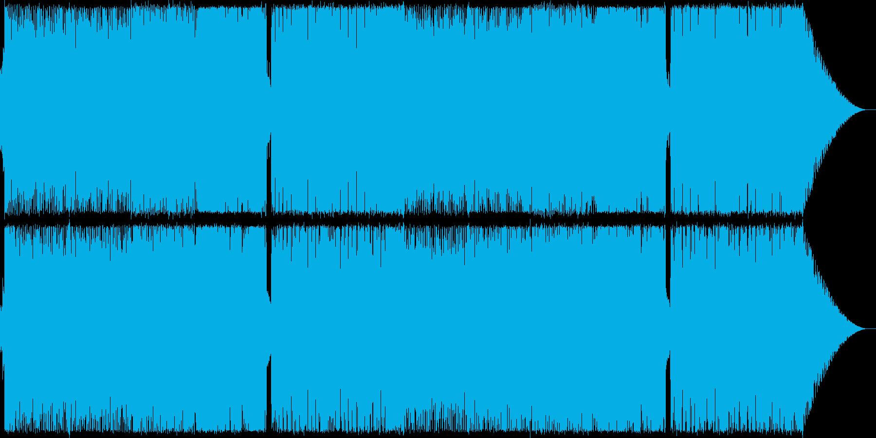 戦隊、ヒーローなどをイメージしたロックの再生済みの波形