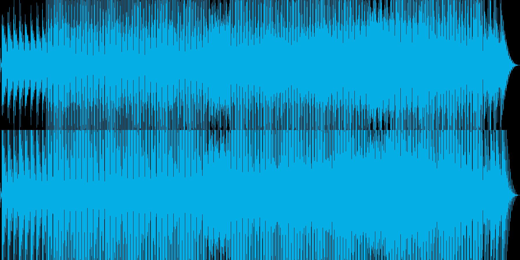 生命の進化を表すようなミニマルテクノの再生済みの波形
