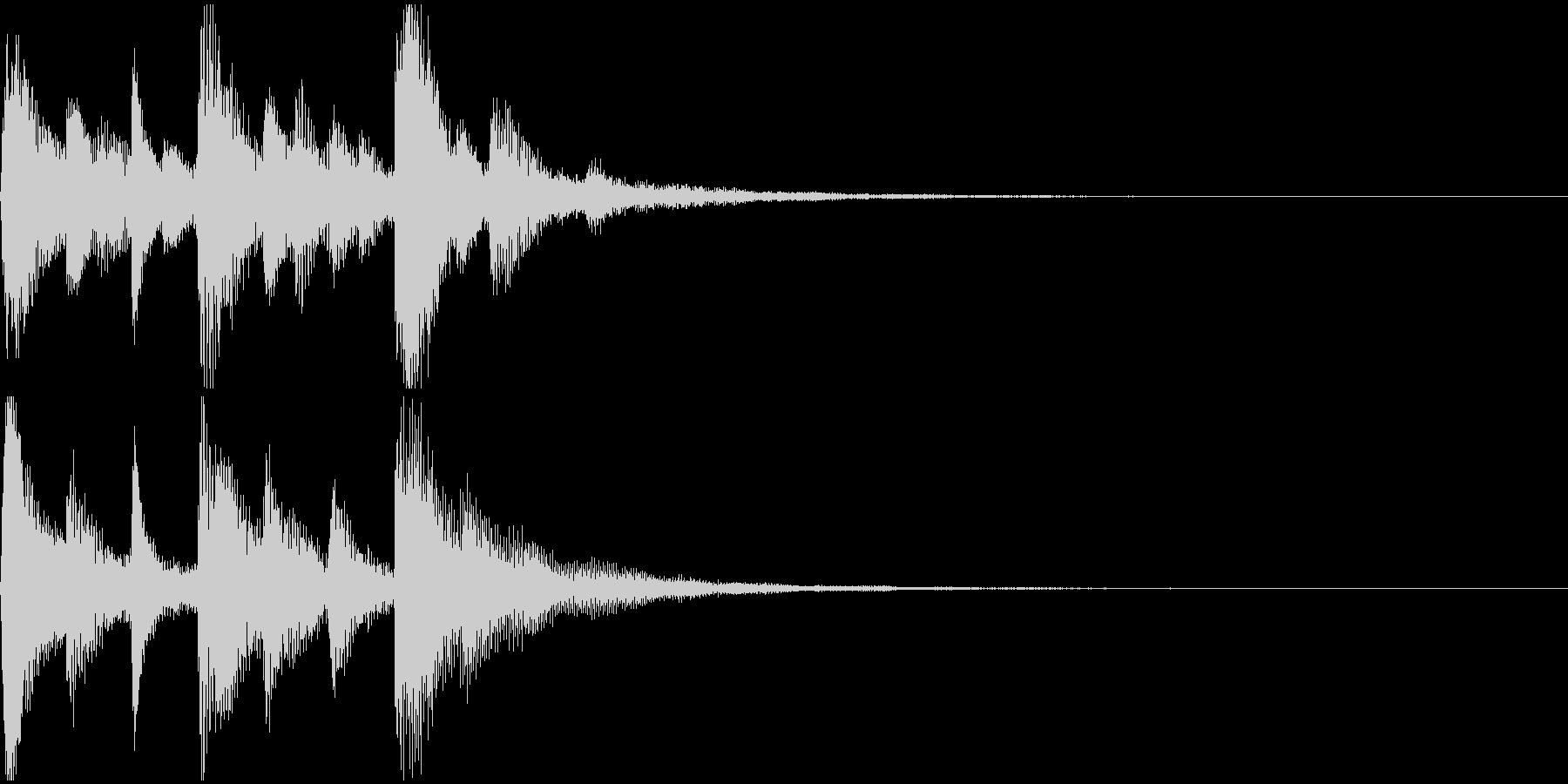 ジングル (ピアノ・場面転換・結果表示)の未再生の波形