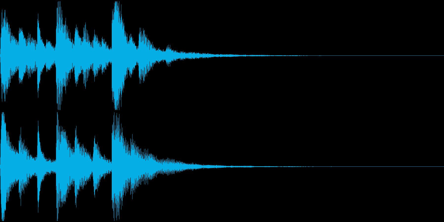 ジングル (ピアノ・場面転換・結果表示)の再生済みの波形