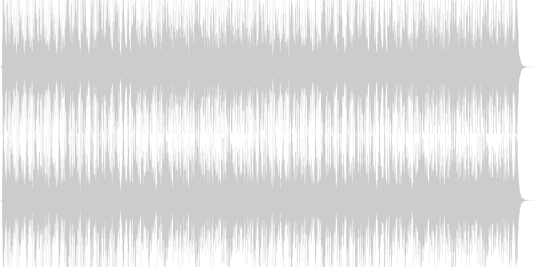 リズム色が濃いシリアスな曲の未再生の波形