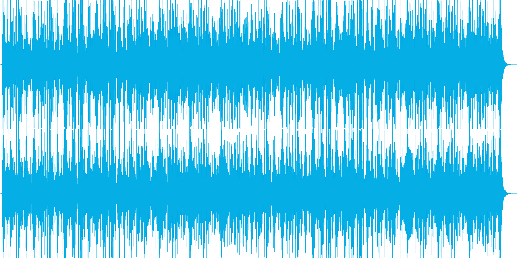 リズム色が濃いシリアスな曲の再生済みの波形