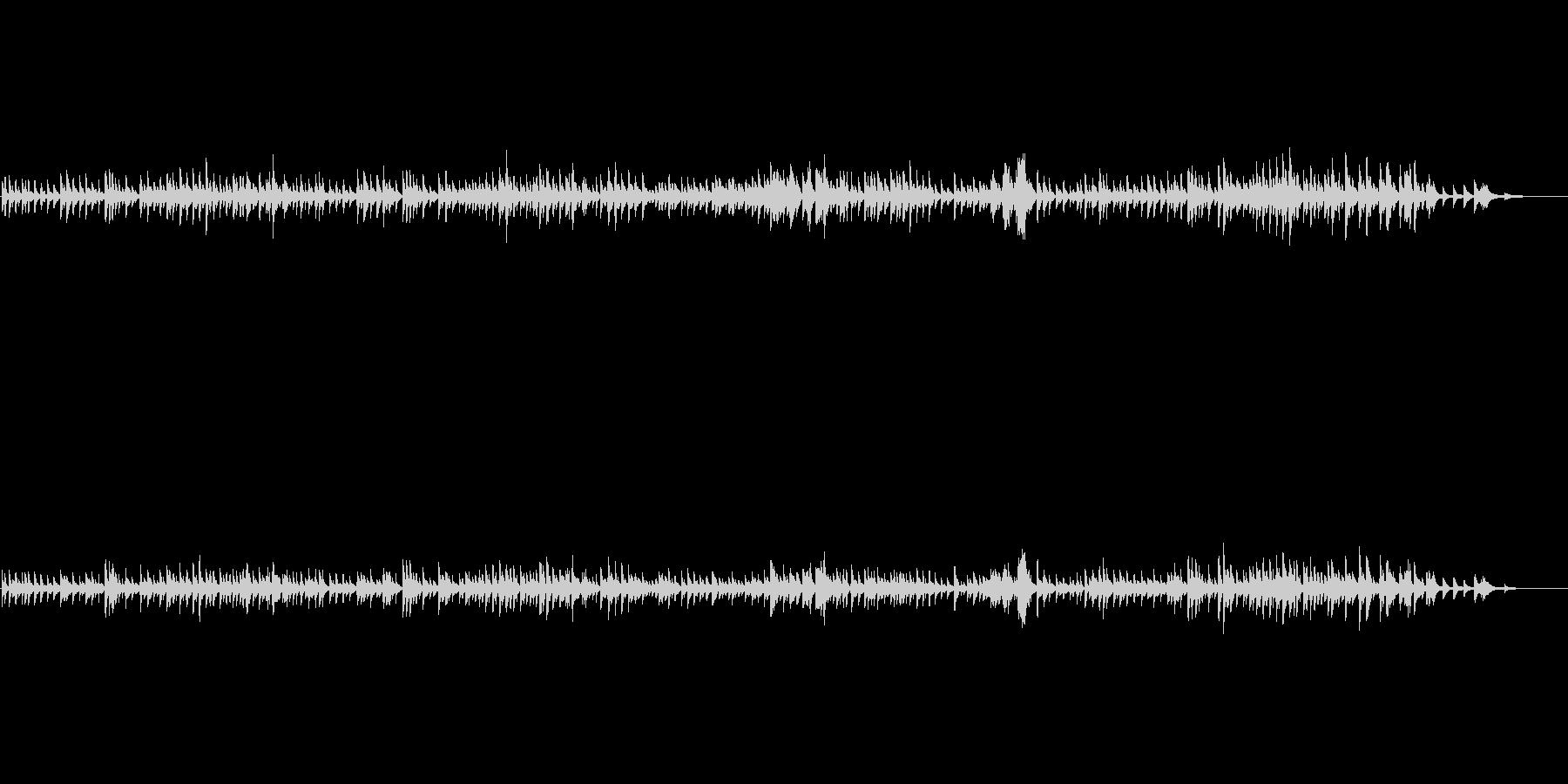 スローテンポで物静かなソロピアノ曲です。の未再生の波形