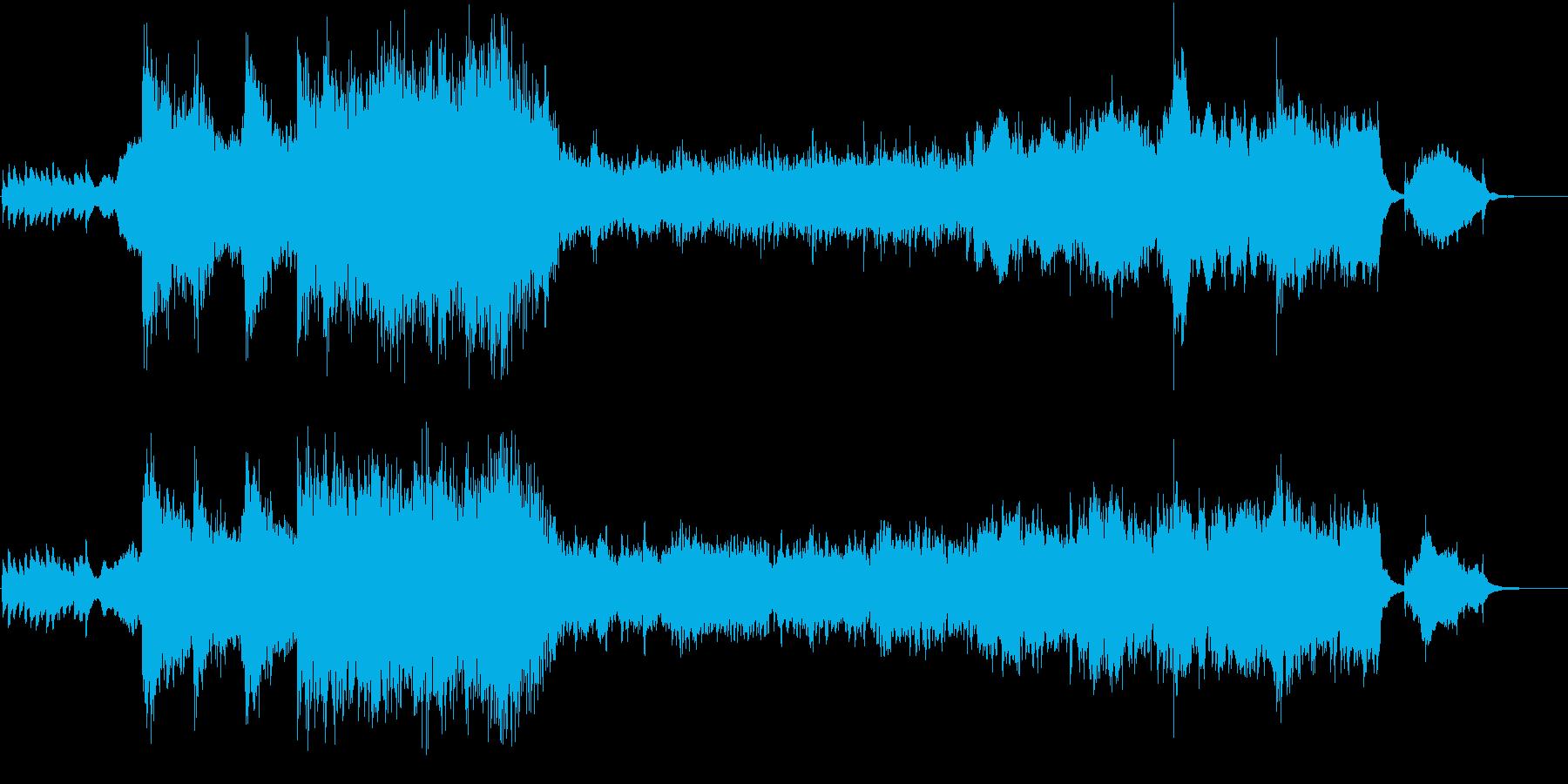 時空を超えた冒険がテーマのゲームのOP曲の再生済みの波形