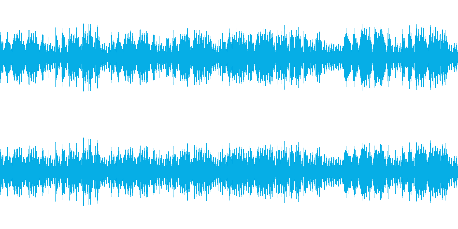 8bitクラシック パヴァーヌ(ループ)の再生済みの波形
