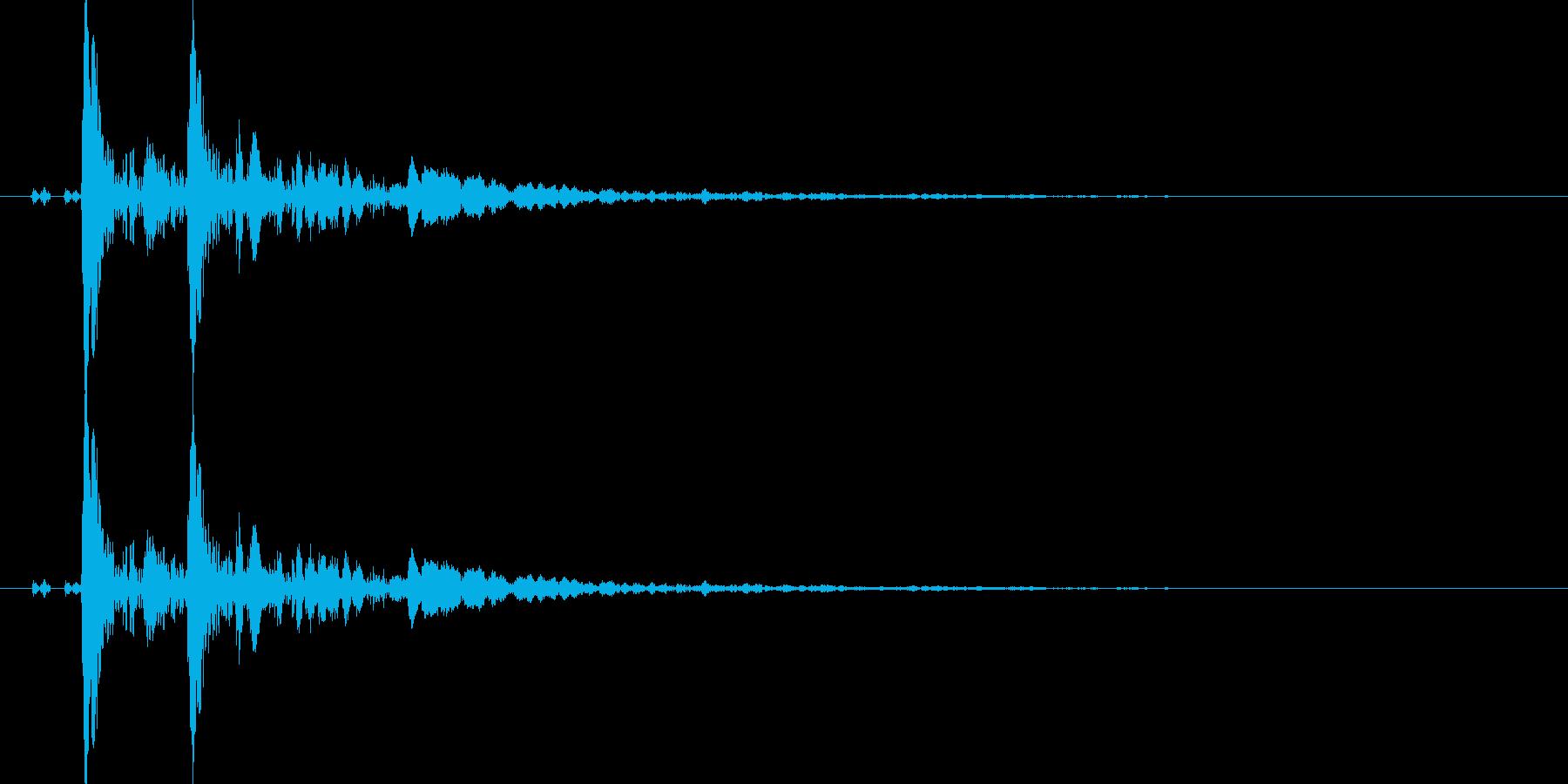 【ポポン!】とてもリアルな太鼓の鼓!07の再生済みの波形