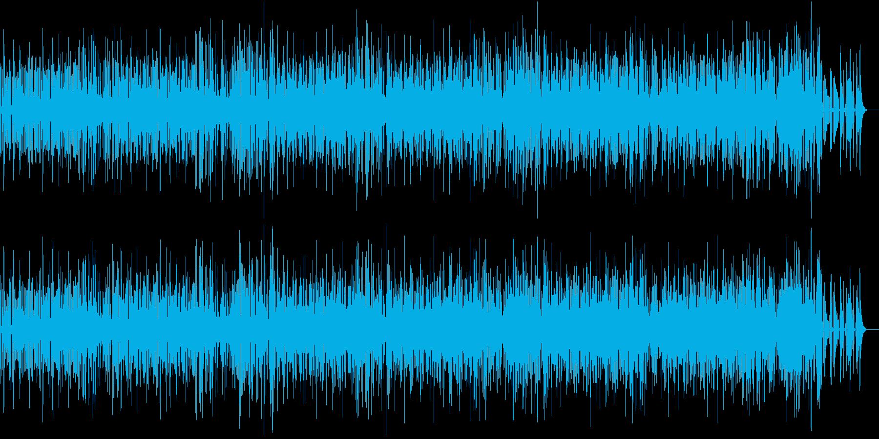 リズミカルで賑やかなジャズの再生済みの波形