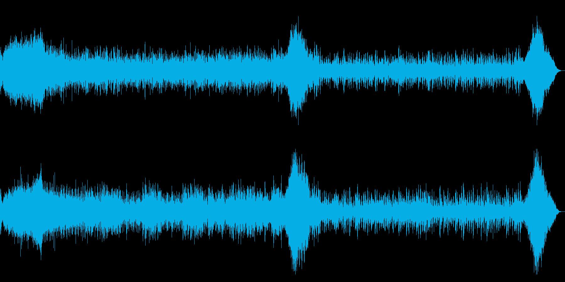 ホラー系 ダークなアルペジオBGMの再生済みの波形