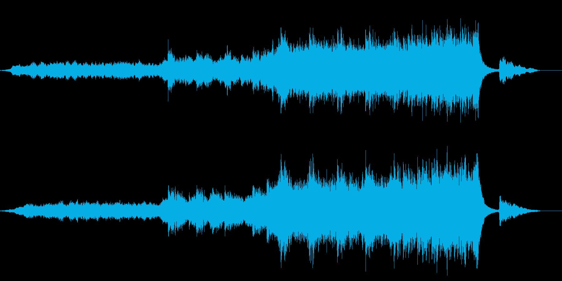 バンドアレンジの壮大な雰囲気のBGMの再生済みの波形