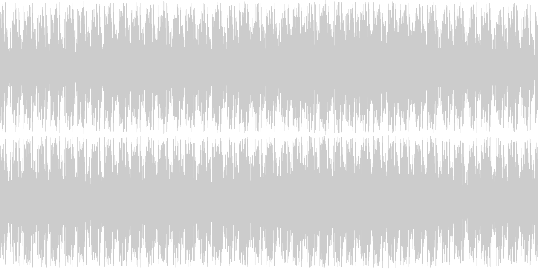 平和で明るめなフィールドBGMの未再生の波形