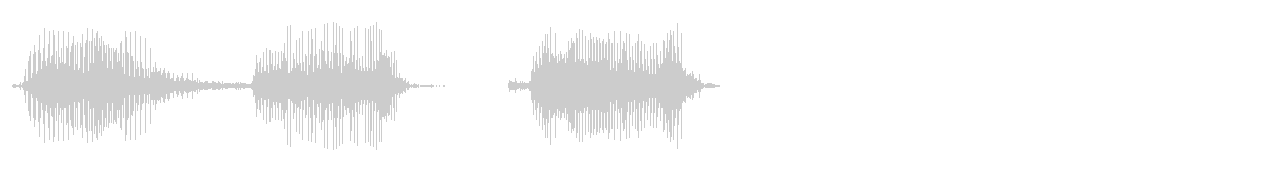 500の未再生の波形
