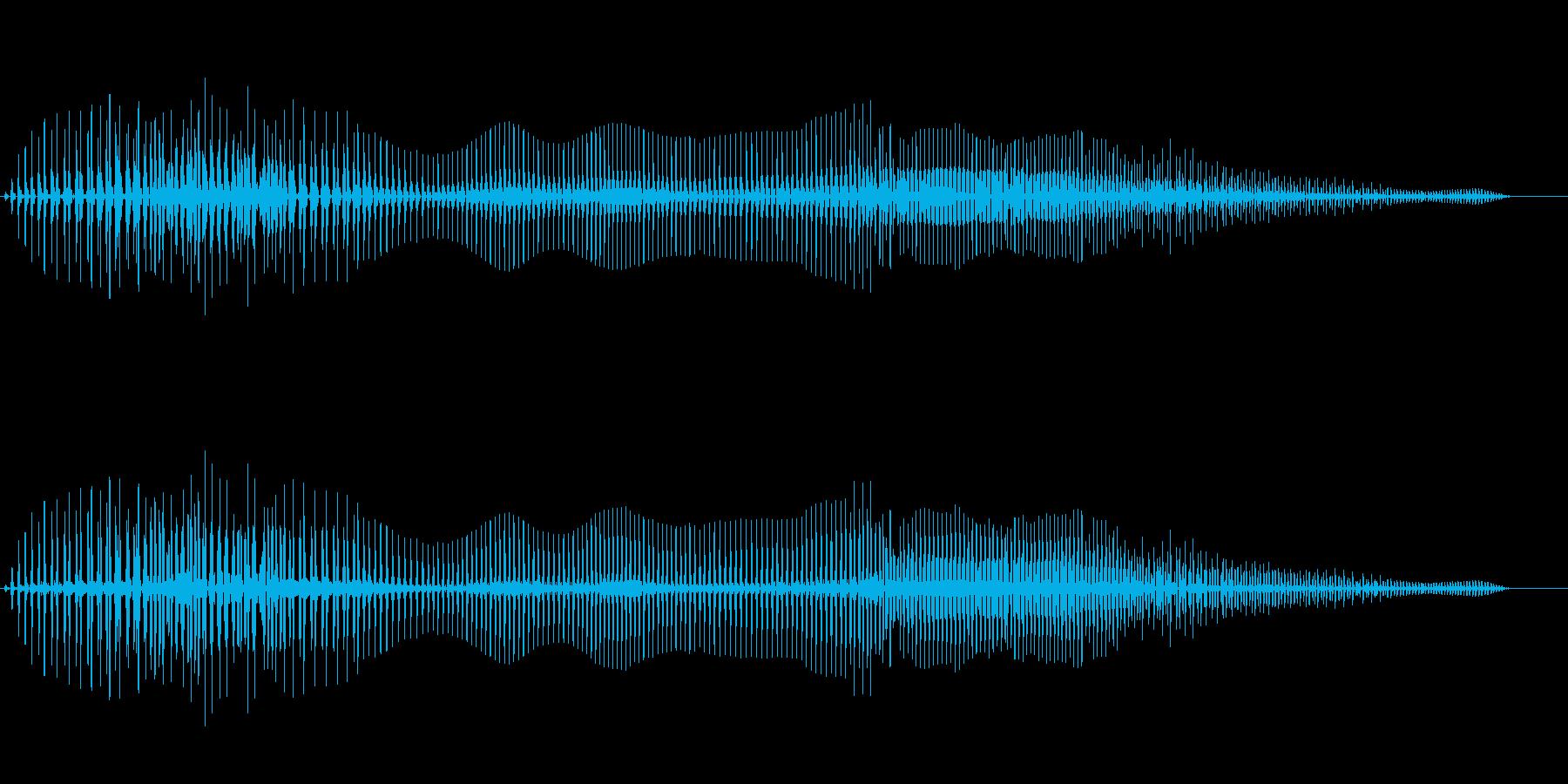 音がこもったおならの再生済みの波形