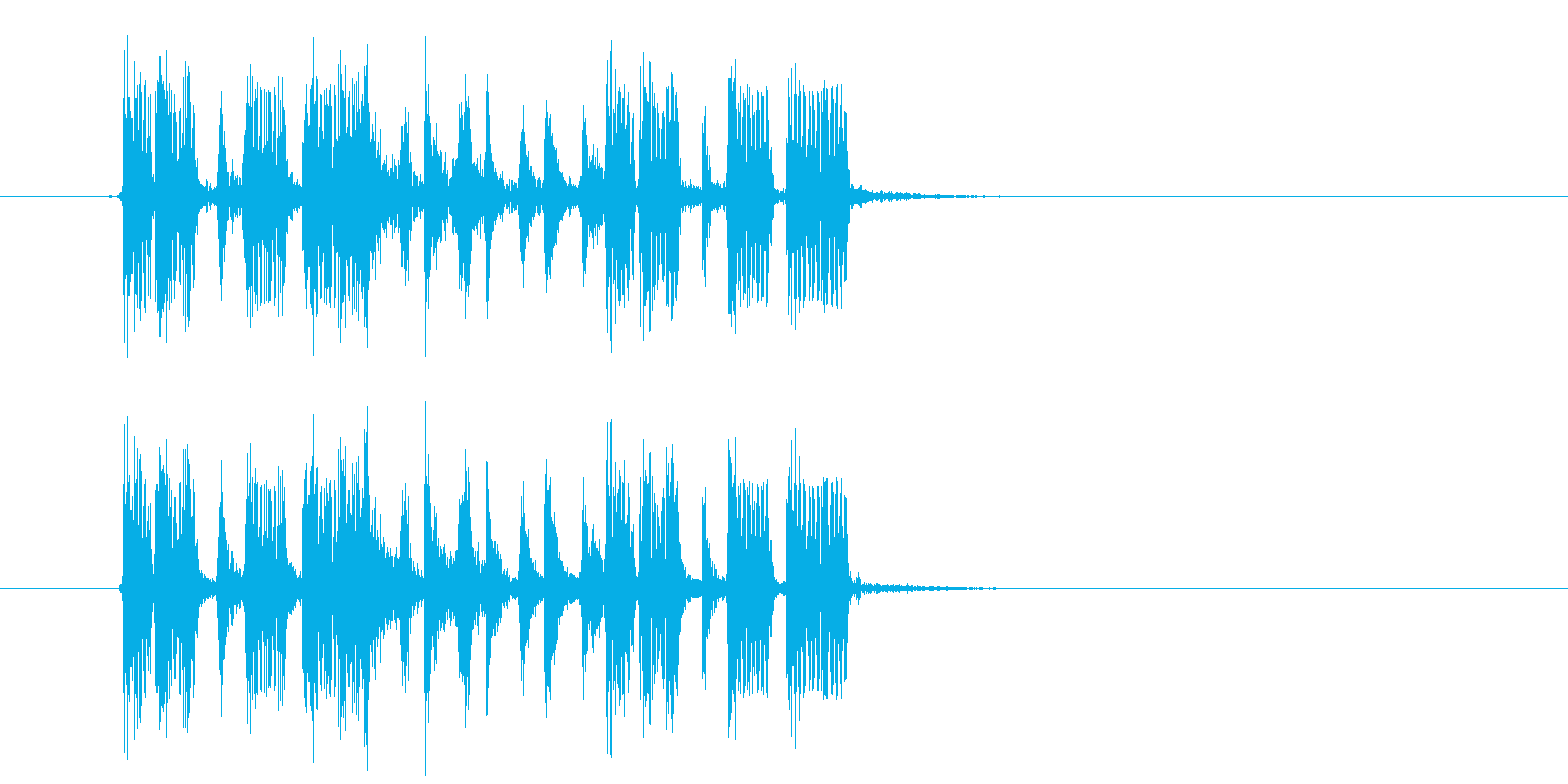 おしゃれでワクワク感のシンセサウンドの再生済みの波形