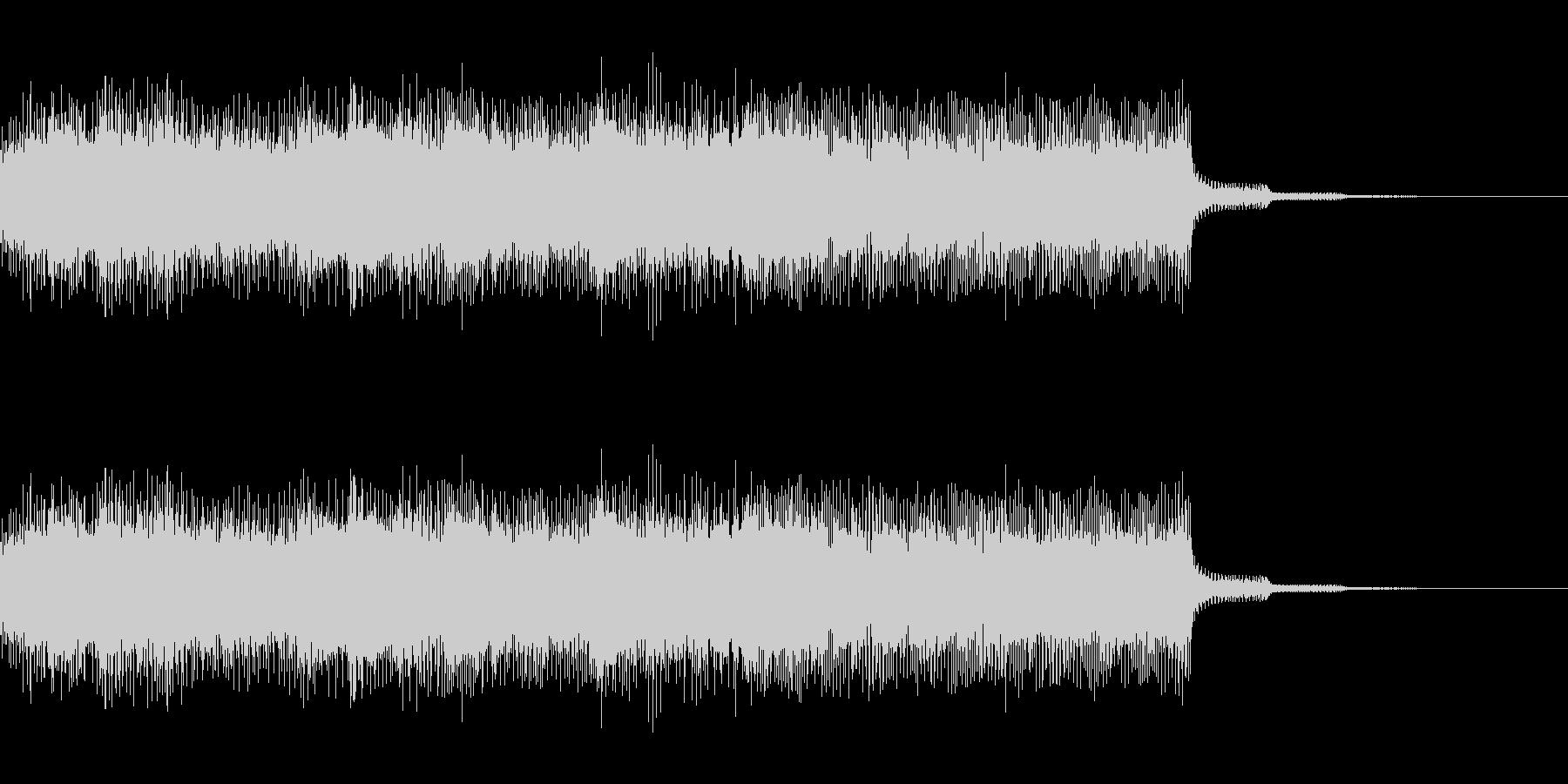 ファミコン風のサウンドのジングルです。…の未再生の波形