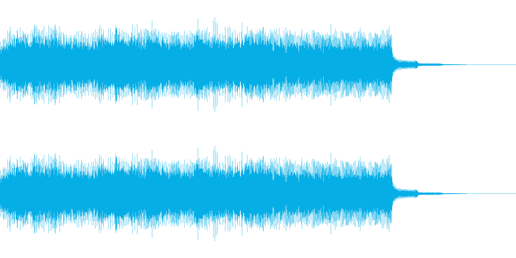 ファミコン風のサウンドのジングルです。…の再生済みの波形