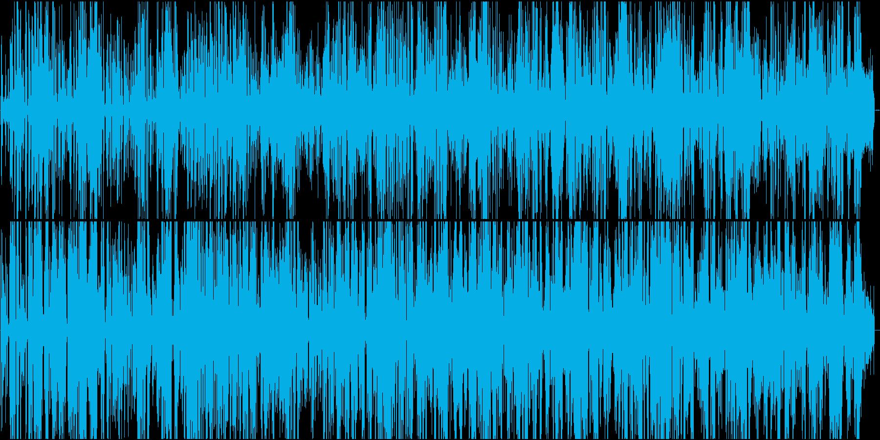宇宙人が話をしている様なBGMですの再生済みの波形