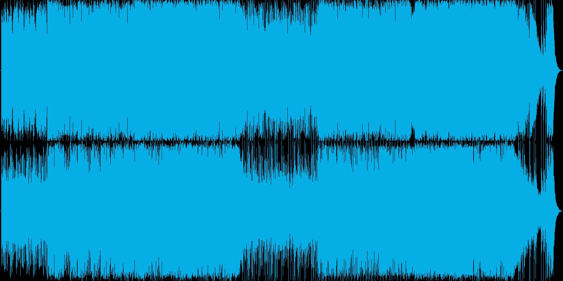 凶悪な黒幕が登場するイメージの再生済みの波形