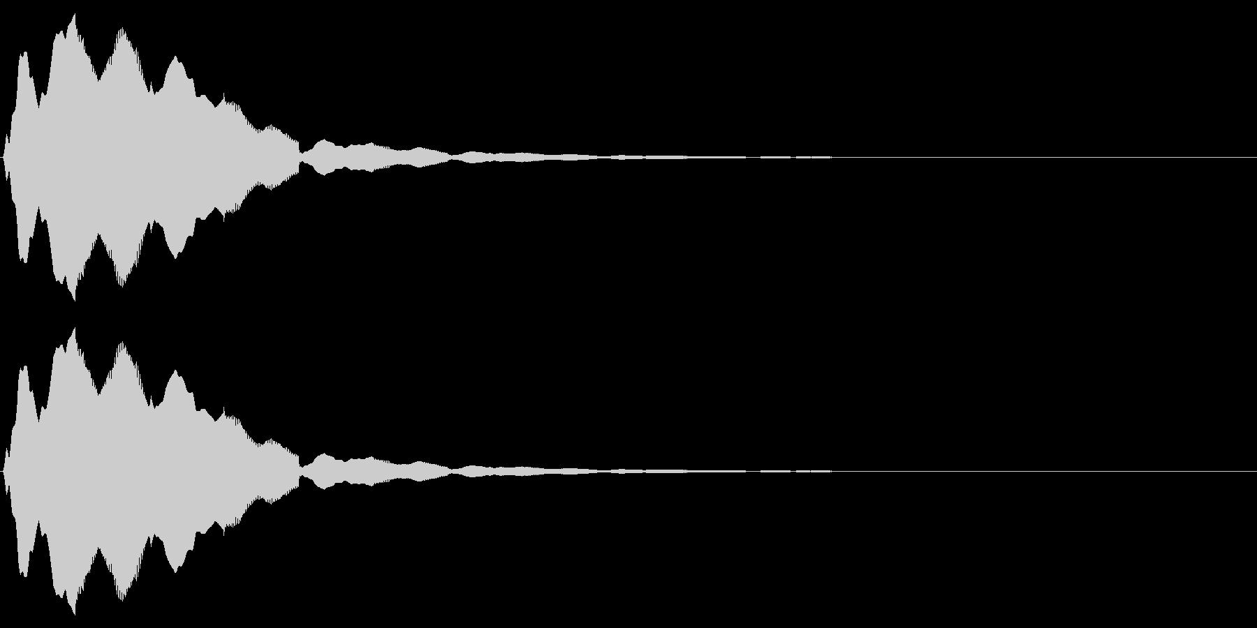 フルートの音で「決定」「選択」の未再生の波形