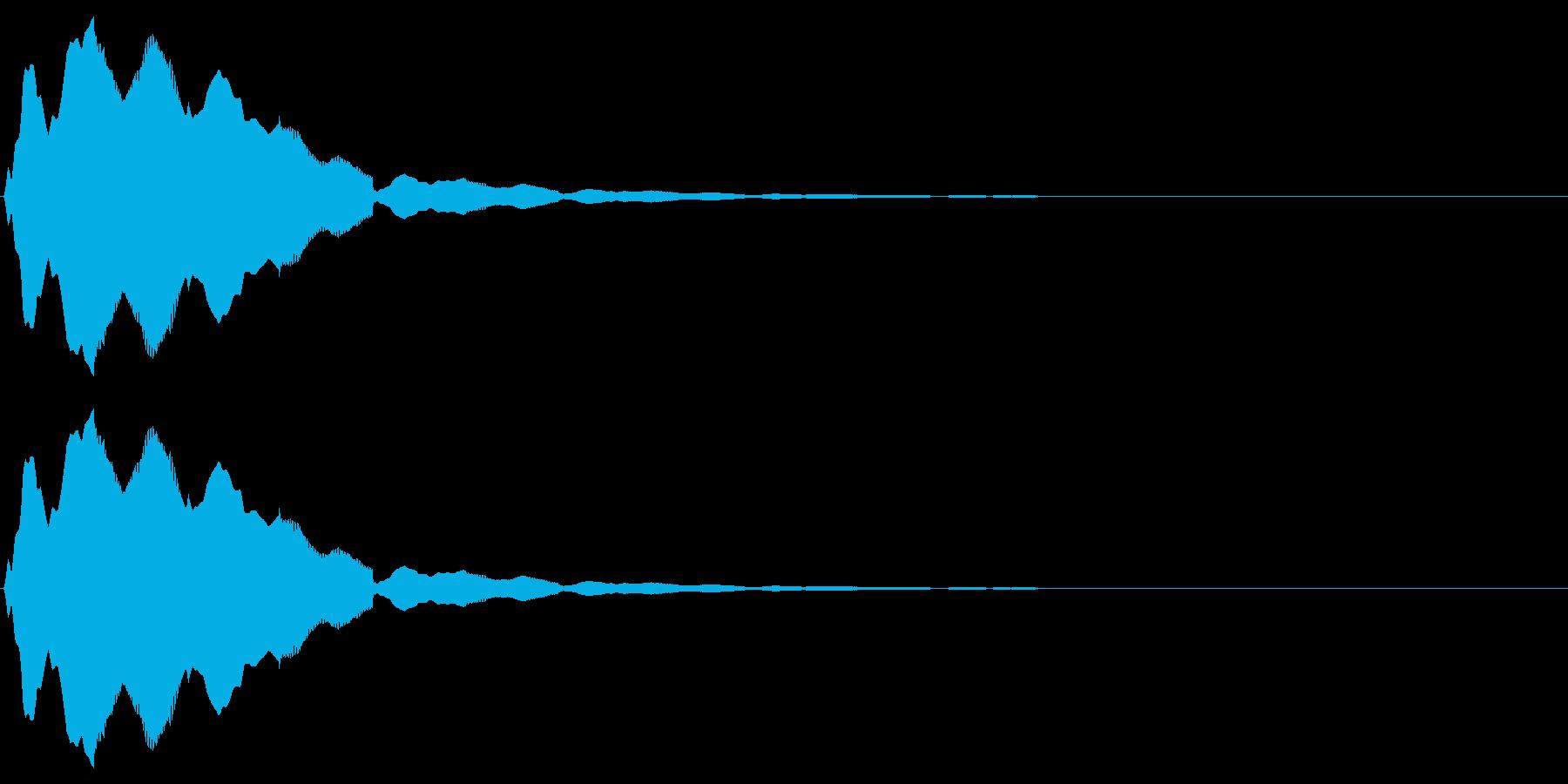 フルートの音で「決定」「選択」の再生済みの波形