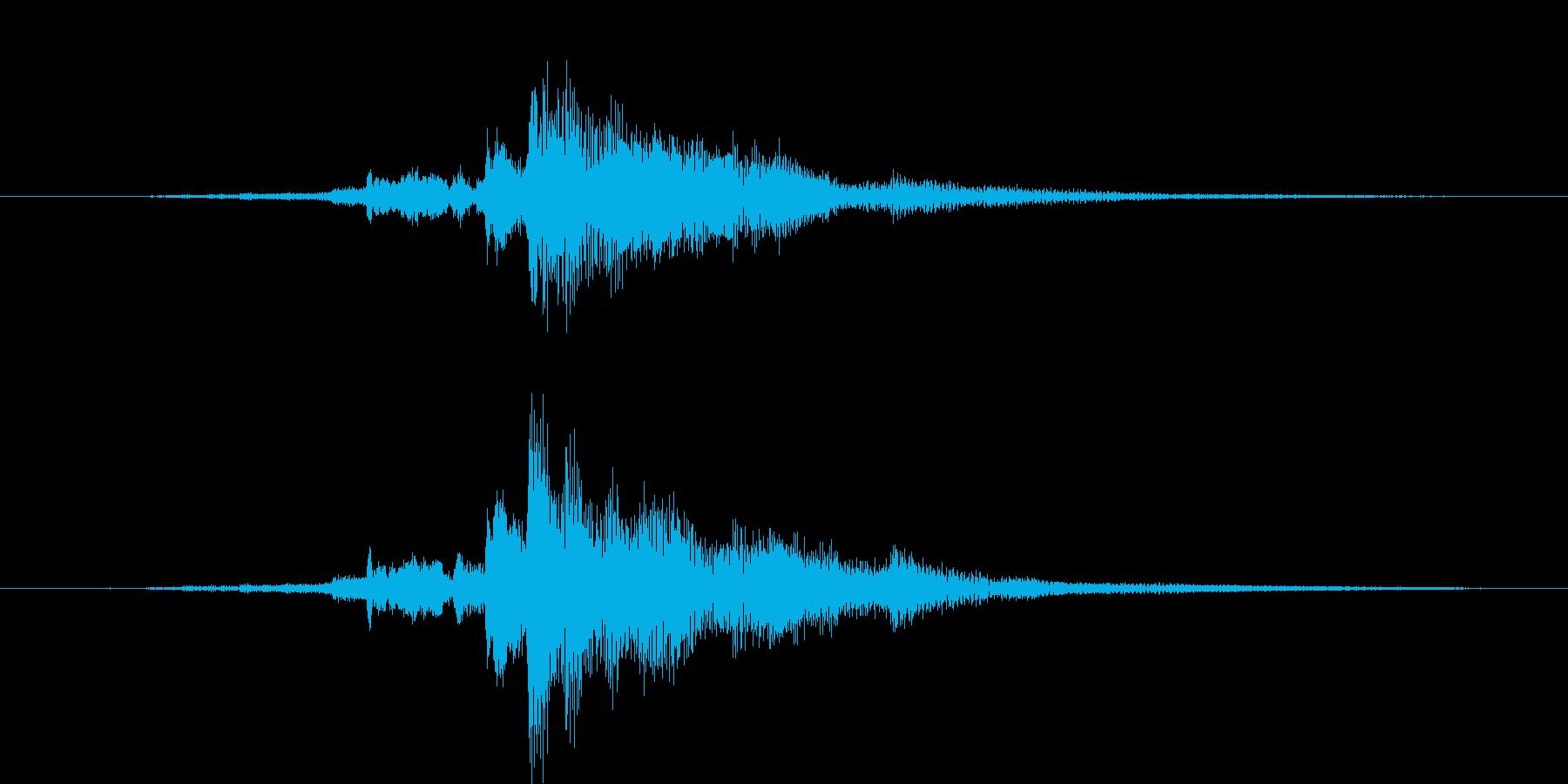 カギを入手した音・チャキッという金属音2の再生済みの波形