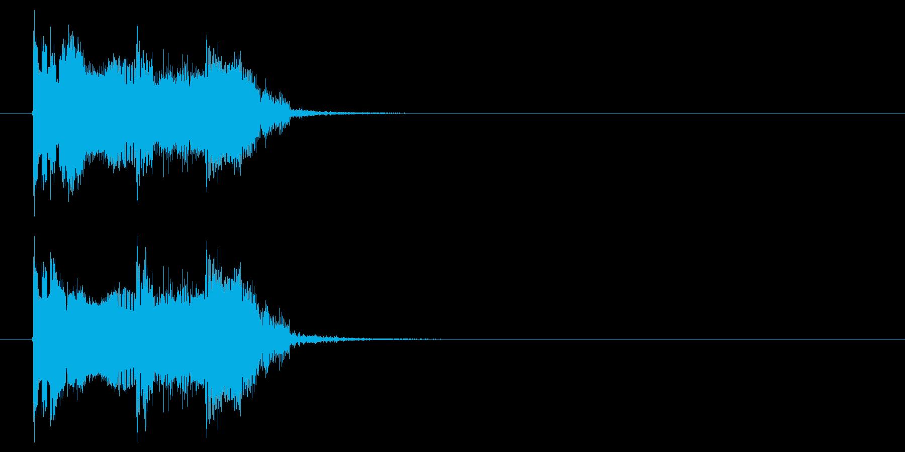 ビビビビ!チューーン!SF系電子音の再生済みの波形