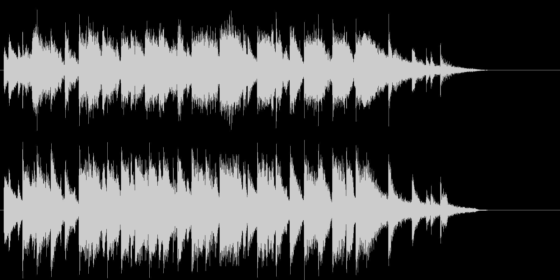 ロマンチックなピアノジャズジングルの未再生の波形