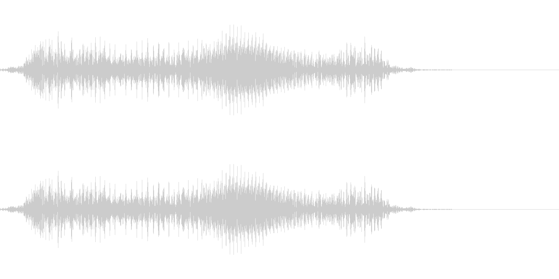 うっの未再生の波形