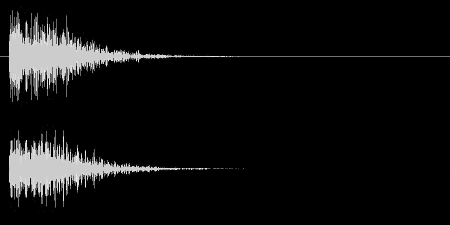 ゴォン(金属系)の未再生の波形