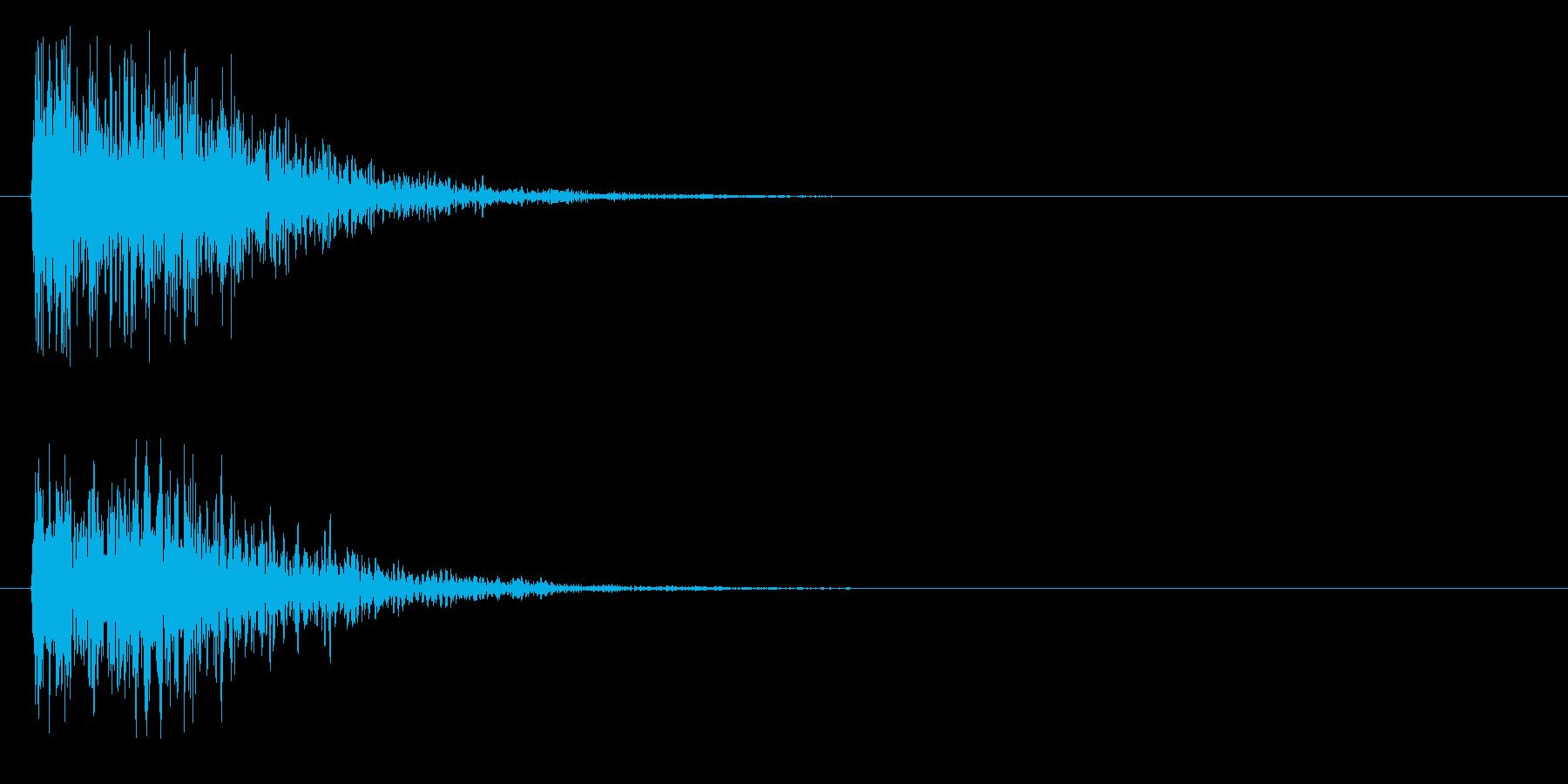 ゴォン(金属系)の再生済みの波形