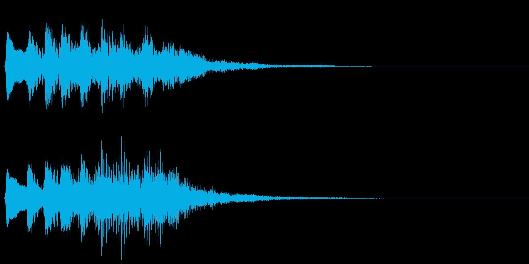 レトロな上昇音 タラララ 8bit ↑の再生済みの波形