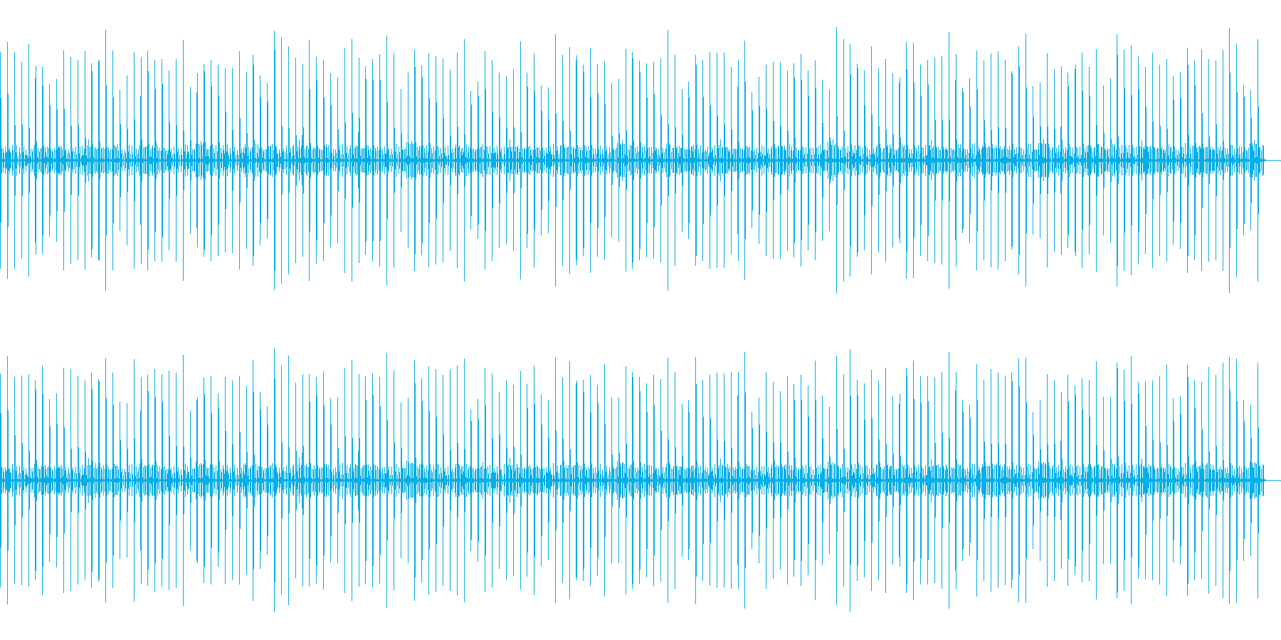 秒針エフェクト02の再生済みの波形