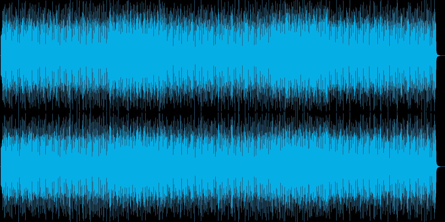 コミカルで可愛いシンセサイザーテクノの再生済みの波形