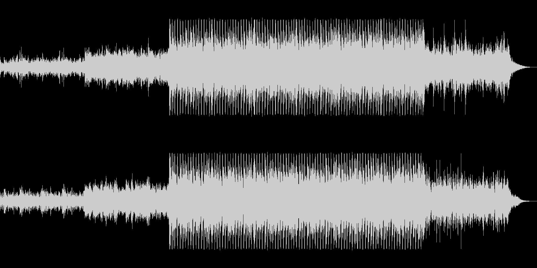グラス系シーケンサーの軽やかテクノポップの未再生の波形