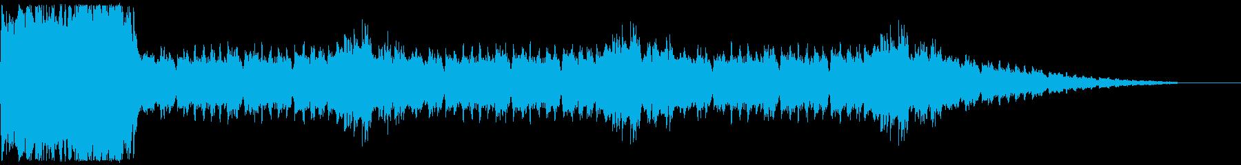 戦闘勝利時に流れるファンタジージングルの再生済みの波形