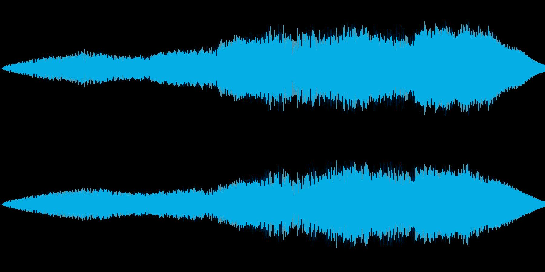 ニューッと伸びるの再生済みの波形