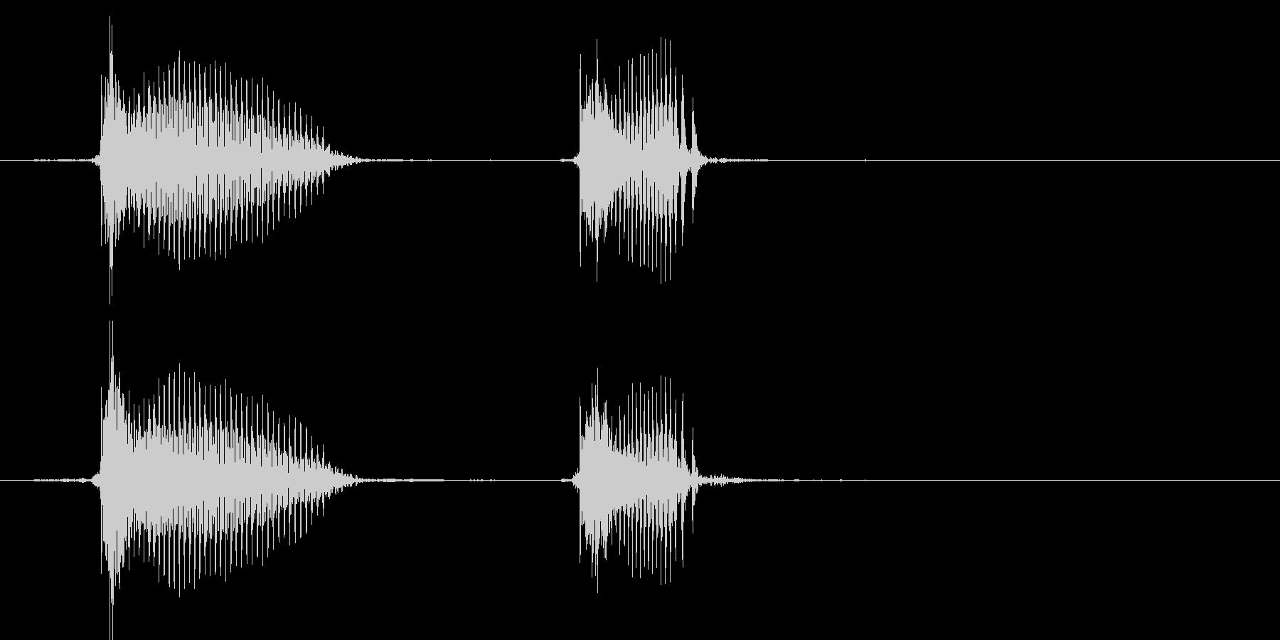 ちゅんちゅん(1歳児の生声です)の未再生の波形