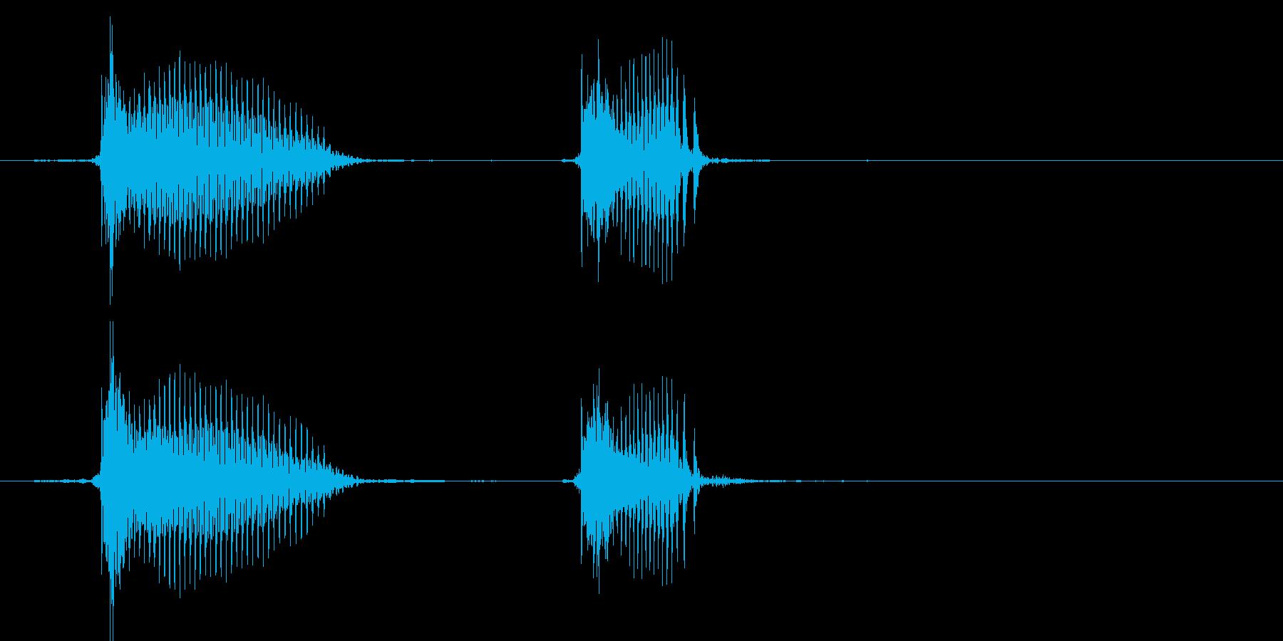 ちゅんちゅん(1歳児の生声です)の再生済みの波形