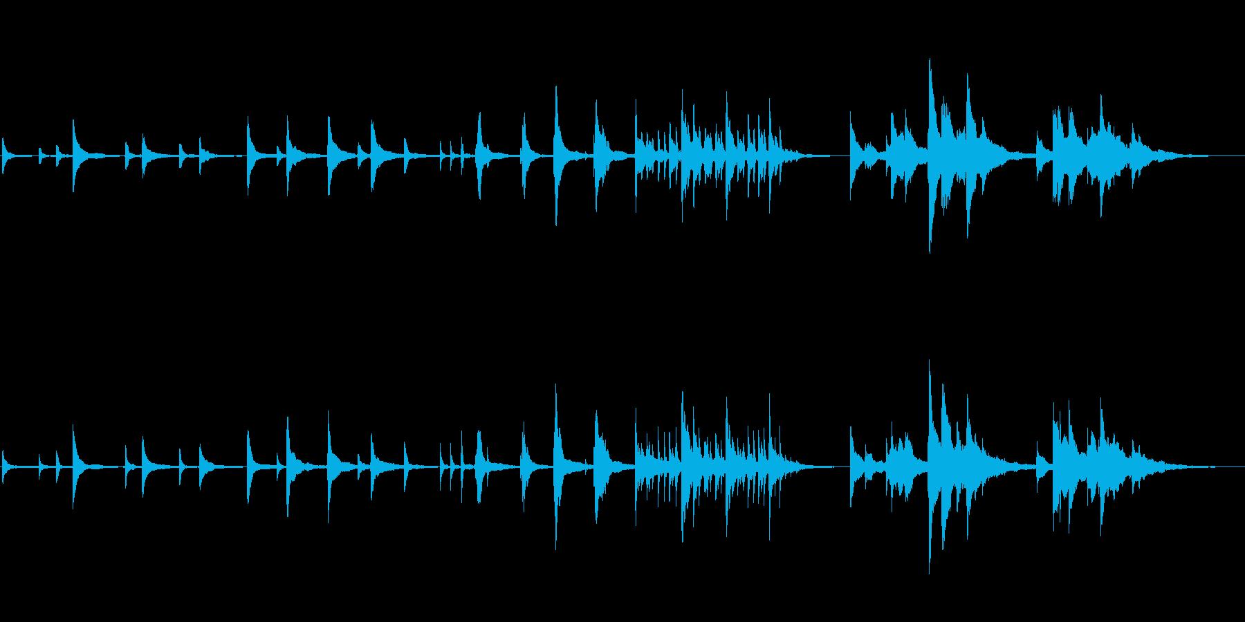 赤ちゃんの誕生シーン向け ■ ピアノソロの再生済みの波形