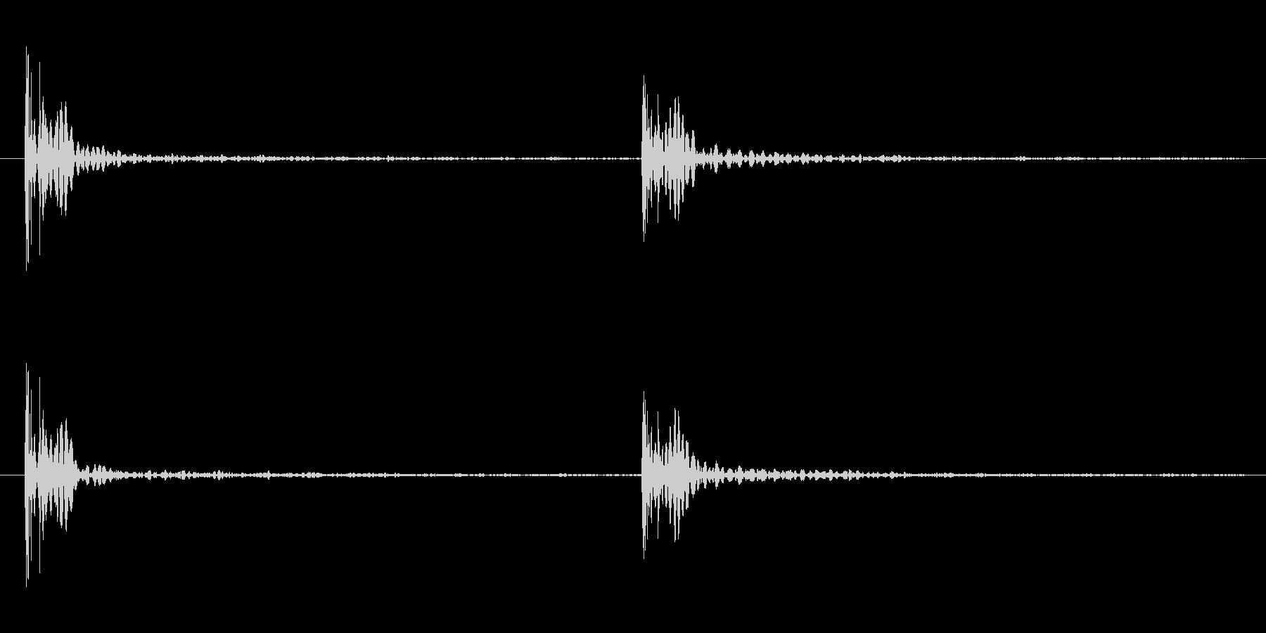 足音の効果音 パターンB 重量感ある足音の未再生の波形