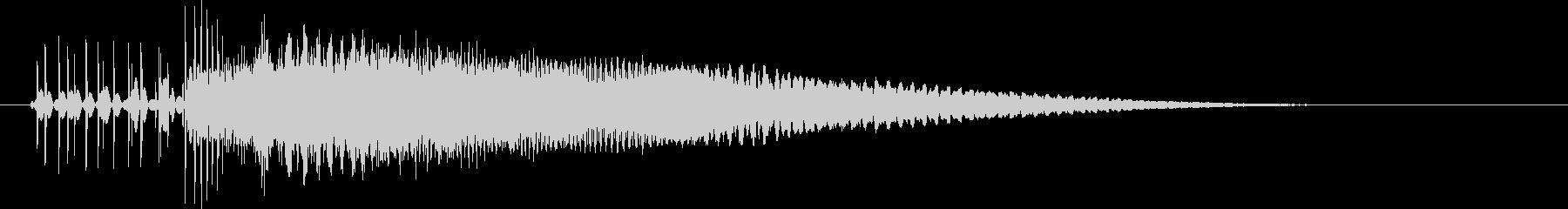 8bit音源の(波動砲ビーム音)2の未再生の波形