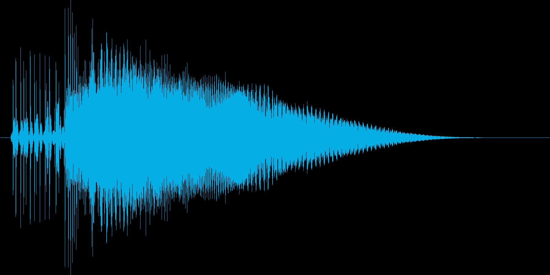 8bit音源の(波動砲ビーム音)2の再生済みの波形