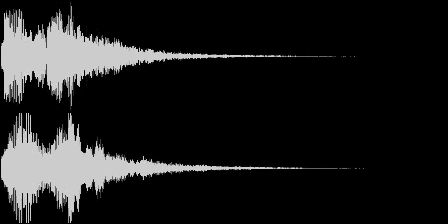 ジングル(ちょっと嬉しい・レアアイテム)の未再生の波形