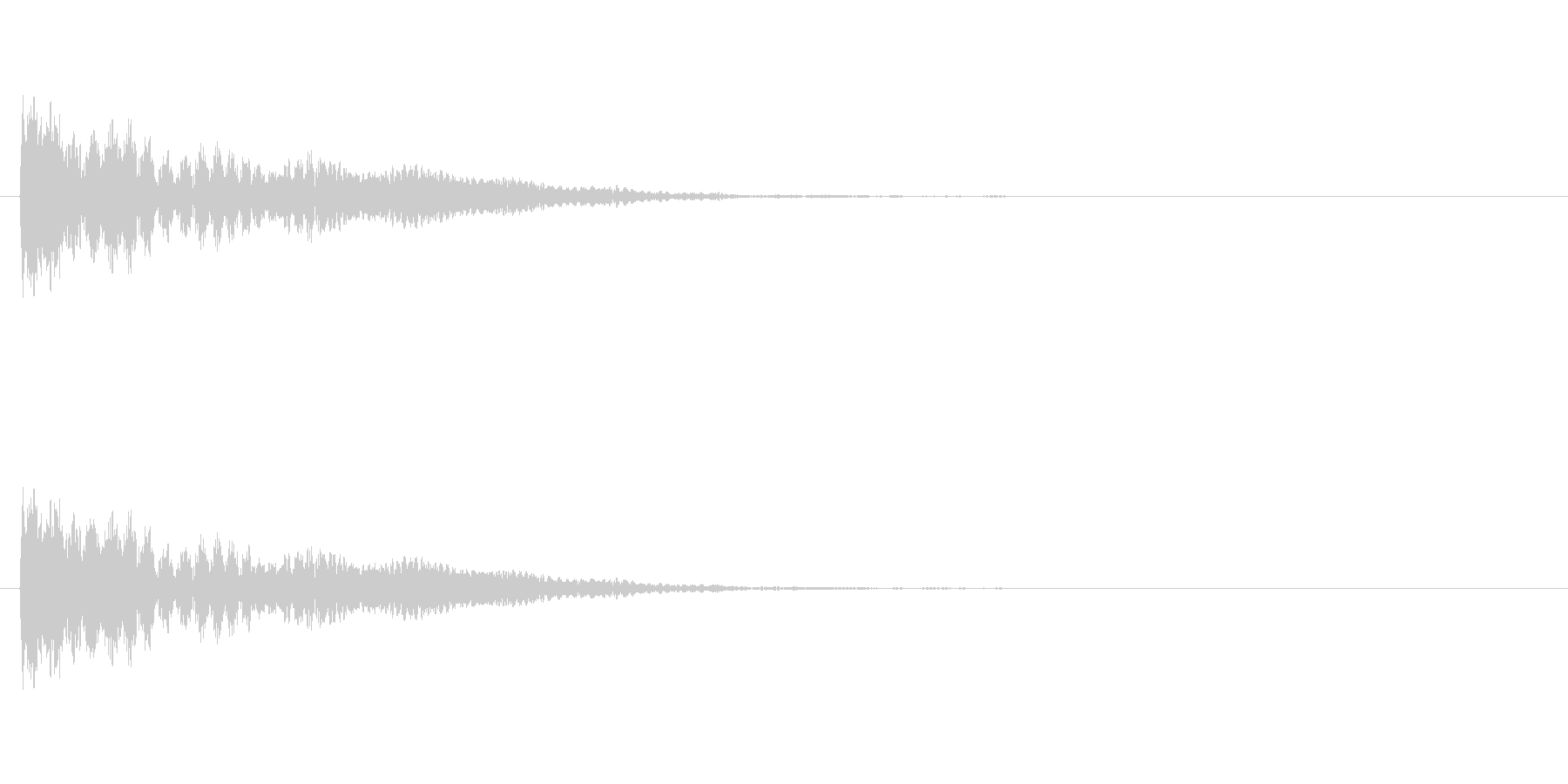 【ネガティブ01-1】の未再生の波形
