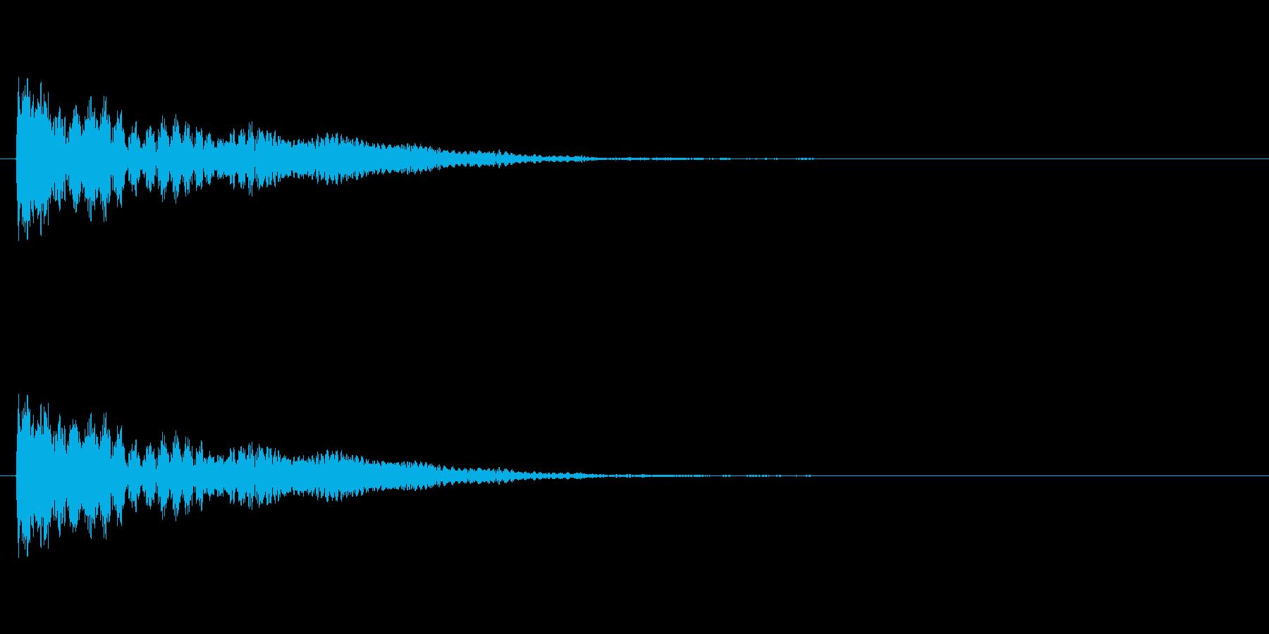 【ネガティブ01-1】の再生済みの波形