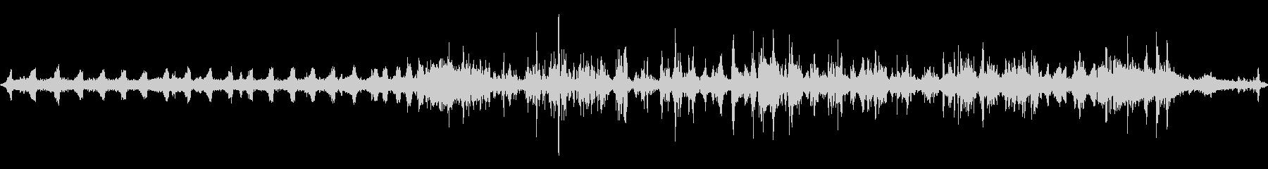 山で録ったカラスとセミの音の未再生の波形