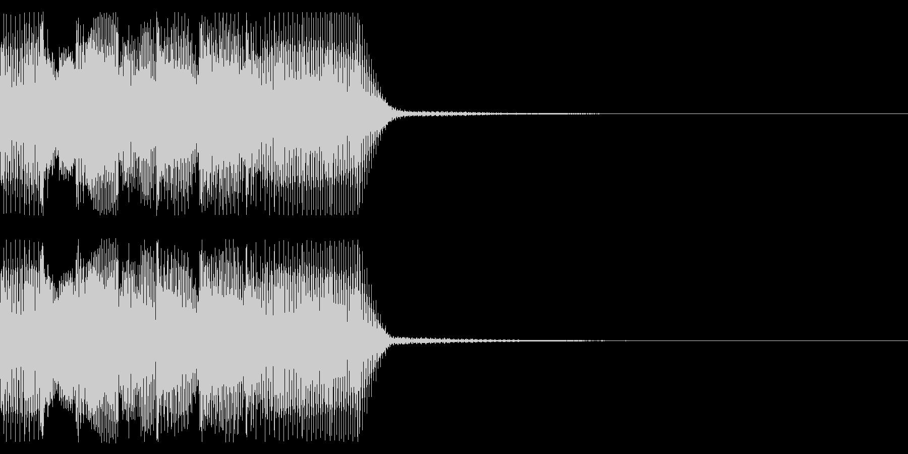 ジングル ゲームオーバー風 その2の未再生の波形
