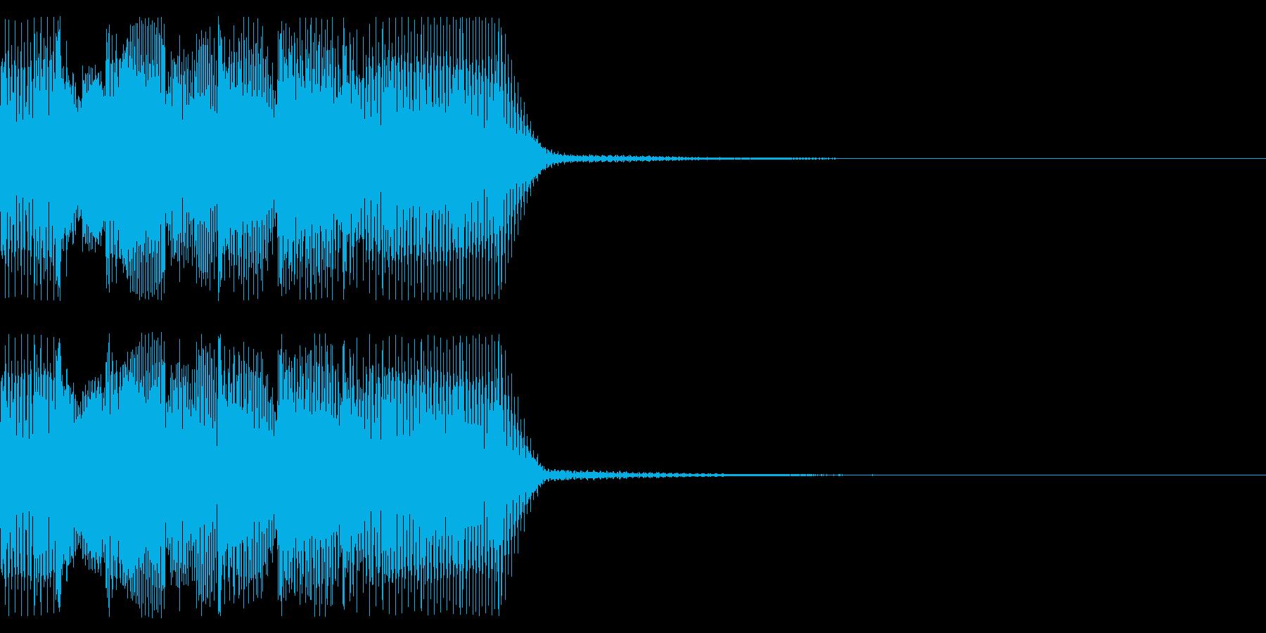 ジングル ゲームオーバー風 その2の再生済みの波形
