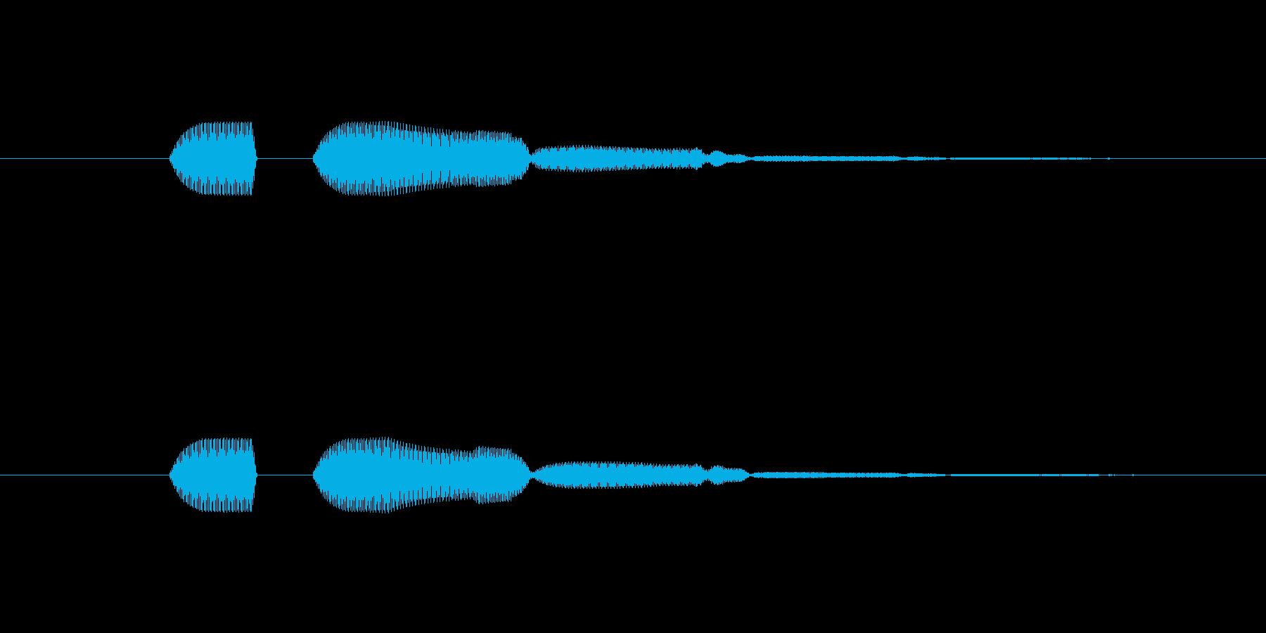 カーソル移動(長めの音)の再生済みの波形